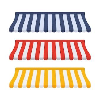 Set tende a righe per negozio