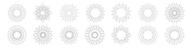 Set di collezione sunburst.
