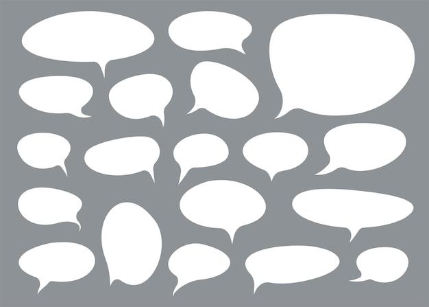Set di bolle di discorso in stile comix. elemento di design. illustrazione vettoriale.