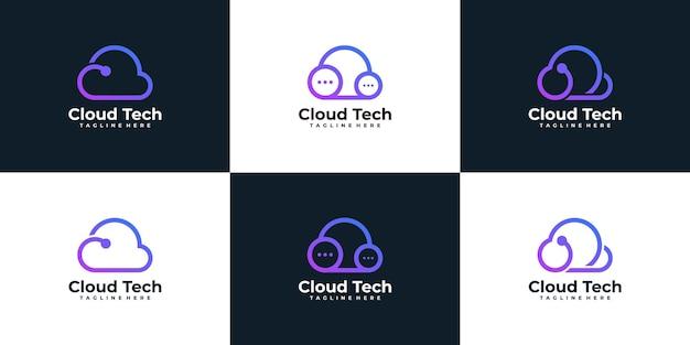 Set di logo cloud tecnologico