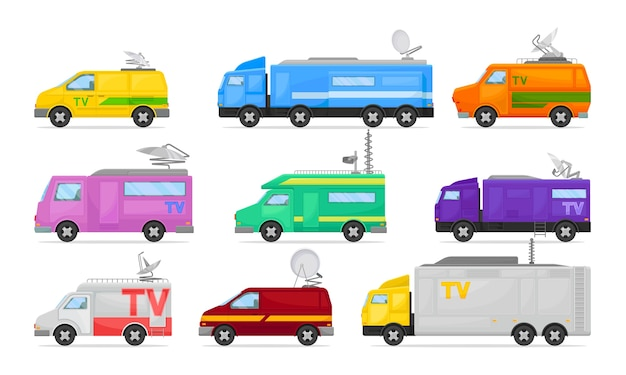 Serie di furgoni televisivi e minibus
