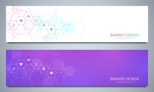 Set di banner modello Vettore Premium