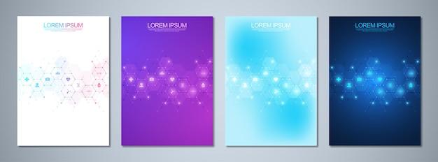Set di opuscoli modello o copertina del libro