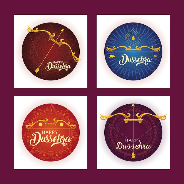 Set di modelli per la celebrazione del festival indiano dussehra