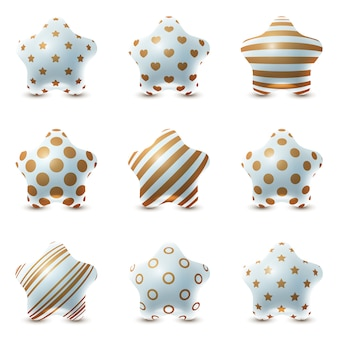 Set texture ball - palloncini stella realistici