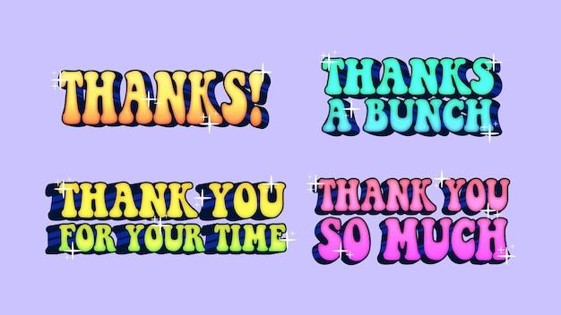 Set di collezioni vettoriali di saluti di ringraziamento