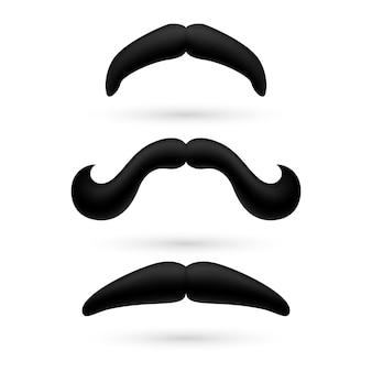 Un set di tre baffi