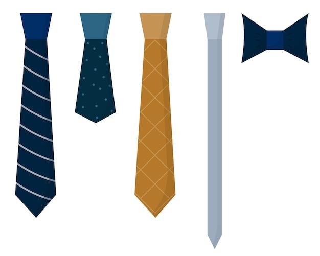 Un set di cravatte cravatte blu verdi grigie e marroni cravatte da uomo