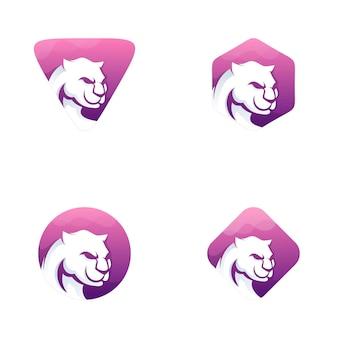 Set di logo della tigre