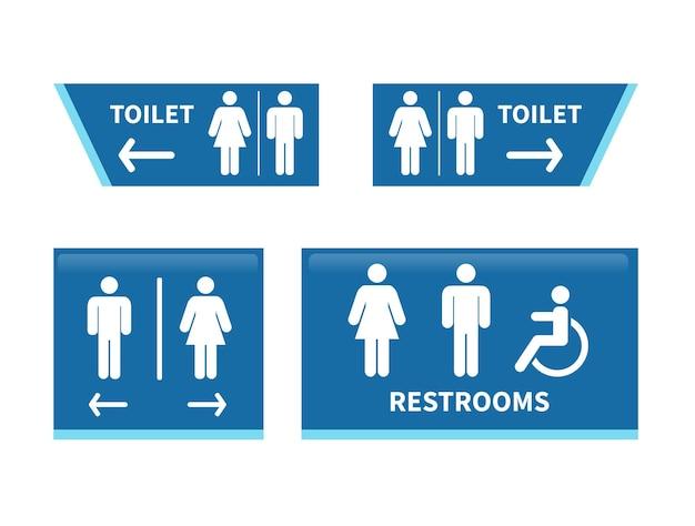 Impostare i segni della toilette segnale del bagno