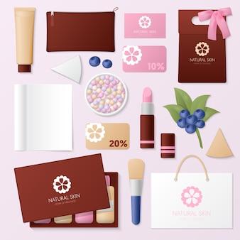 Set di strumenti per il negozio di cosmetici