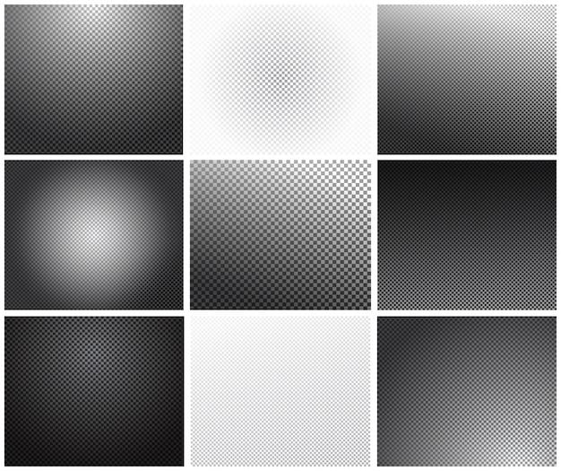 Set di griglia di trasparenza