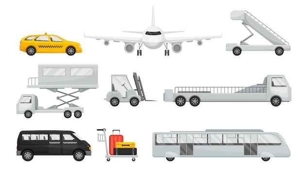 Set di trasporto per il servizio aeroportuale