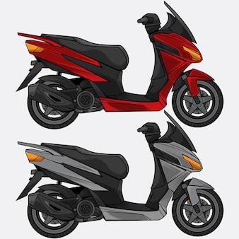 Imposta il design dello scooter da trasporto
