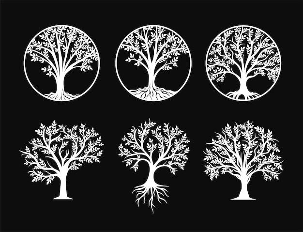 Set di elementi decorativi dell'albero della vita