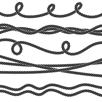 Set di corde intrecciate Vettore Premium