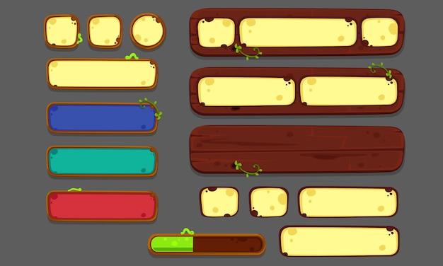 Set di elementi dell'interfaccia utente per giochi e app 2d, ui di gioco parte 2