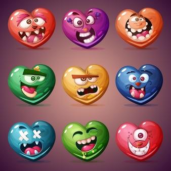 Impostare il cuore di san valentino.