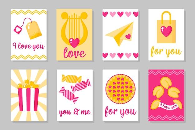 Set di carta di san valentino