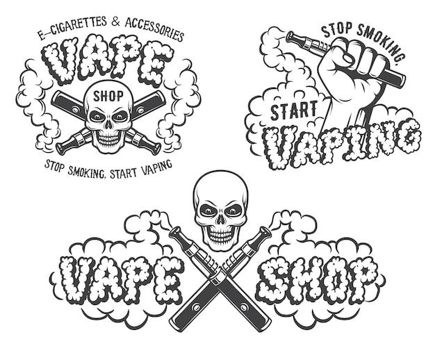 Set di vape, emblemi di sigaretta elettronica