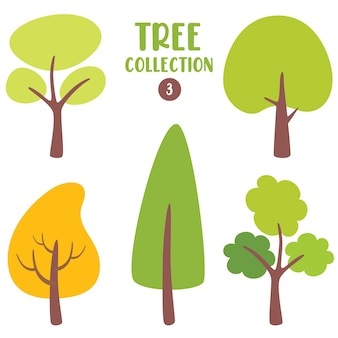 Insieme di vari alberi piatti