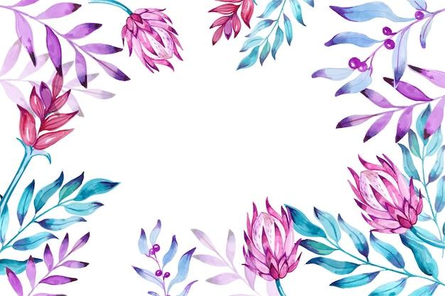 Set di vari fiori dipinti a mano