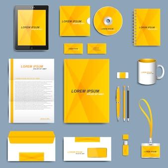 Set di modello di identità corporativa di vettore. design aziendale moderno