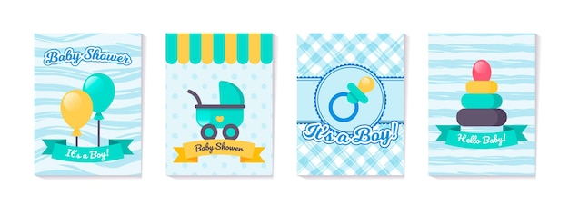 Set di carte verticali per baby shower