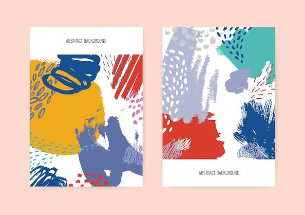 Set di modelli di volantini o cartoline verticali