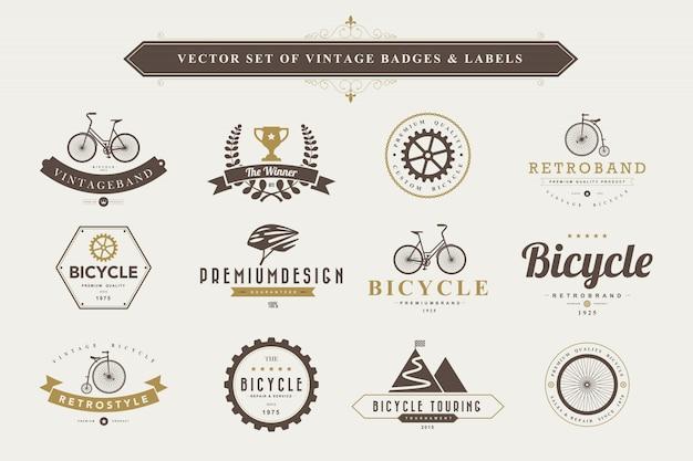 Set di etichette e distintivi vintage.