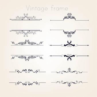Set di bordi vintage