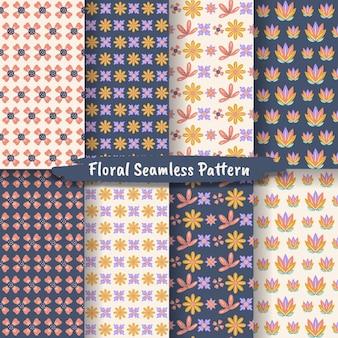 Set di motivi floreali vintage senza cuciture per stampe di design e moda