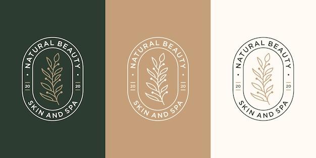 Set di etichette vintage prodotti naturali e biologici, cosmetici, spa e benessere, moda.