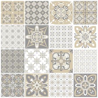 Set di pattern vintage per il design tessile