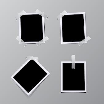 Set di cornici per foto d'epoca incollate su nastro.