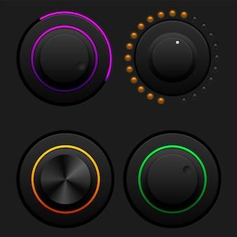 Set di pulsanti del volume