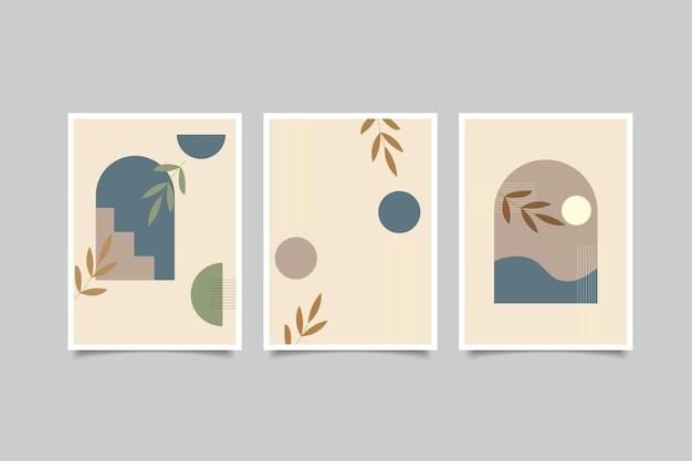 Set di decorazioni murali boho contemporanee