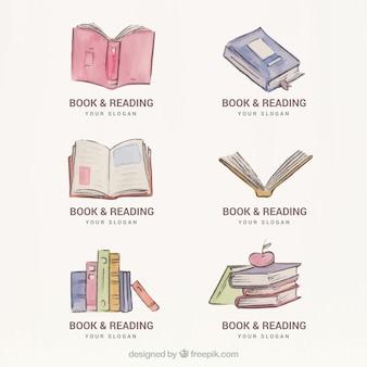 Set di acquerello libro loghi