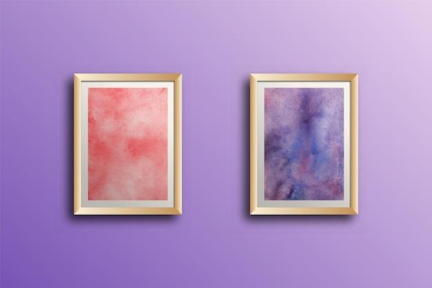 Set di arte della parete dipinta a mano dell'acquerello