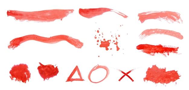 Set di acquerelli rossi