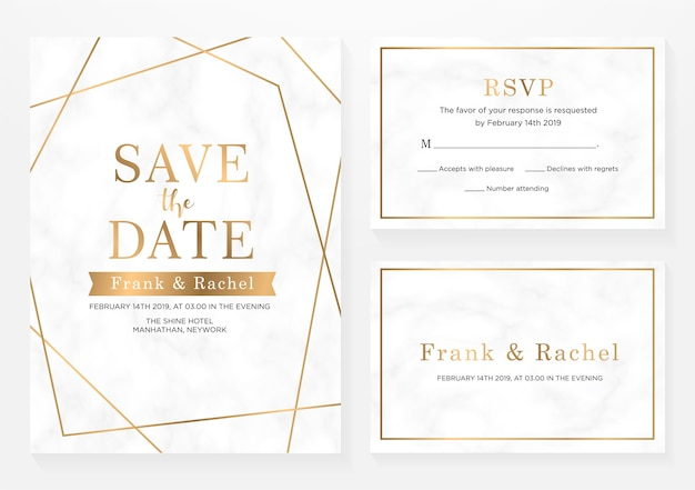 Set di carta di invito a nozze