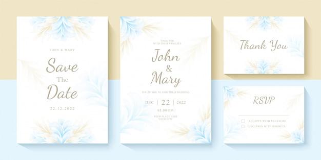 Set di modello di invito di nozze