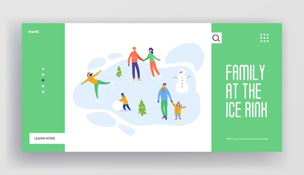 Set di modello di pagine di destinazione delle vacanze invernali. layout del sito web di buon natale e felice anno nuovo con personaggi di persone, alberi di natale, slitte. festa degli amici del sito web mobile personalizzato.