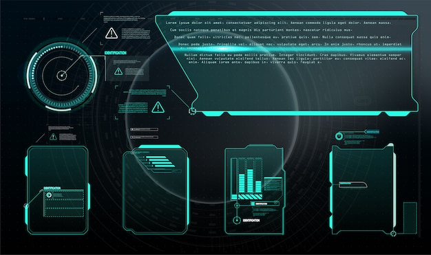 Impostato con la comunicazione di chiamate. progettazione astratta del layout del pannello di controllo.