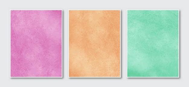 Set con sfondo acquerello astratto minimalista creativo