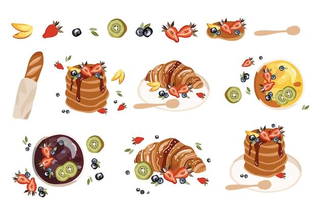 Set con frutti estivi.