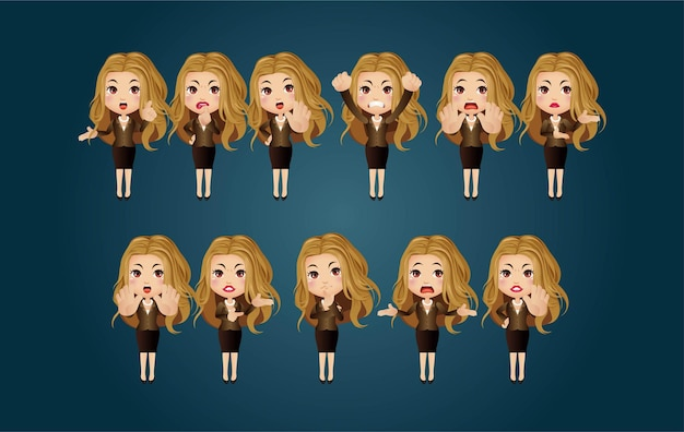 Set di caratteri donna
