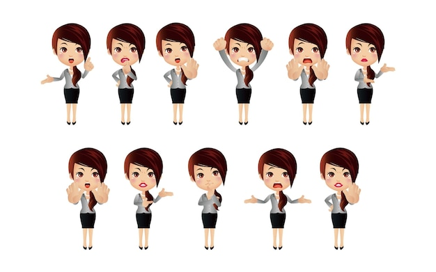 Set di caratteri donna.