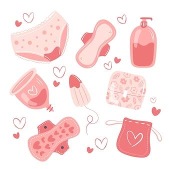 Set di prodotti per l'igiene delle donne