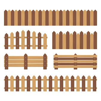 Set di recinzioni in legno